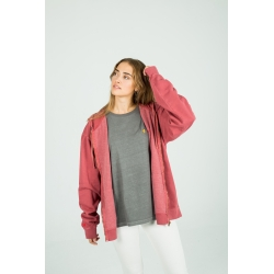 Crimson red Canguro zip hoodie