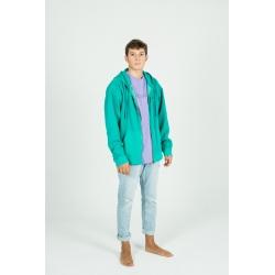 Aqua blue Canguro zip hoodie