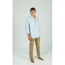 Polera Oxford azul