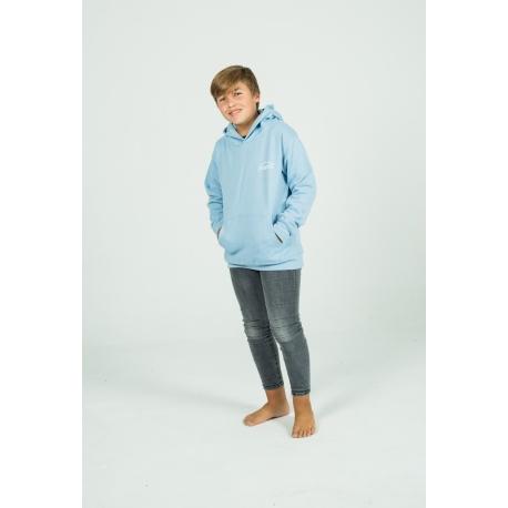 Sky blue Basic hoodie