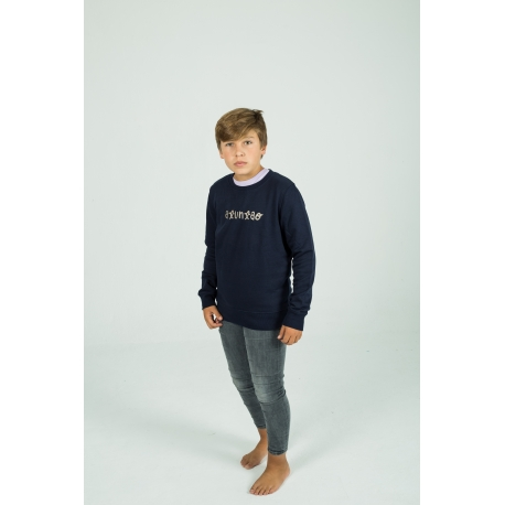 Navy Sweet Sweatshirt