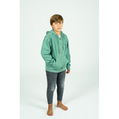 Green Canguro Youth zip hoodie